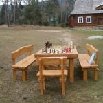 szachowisko w skansenie